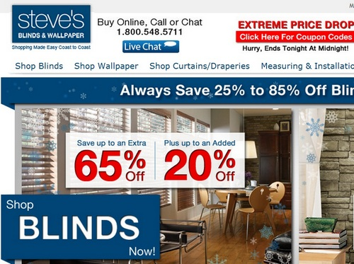 Gogoshopper blog 2012 january justblinds it doesnt offer coupons very often but now it has a 10 off coupon with minimum order of 150 with code save102006z12 fandeluxe Images