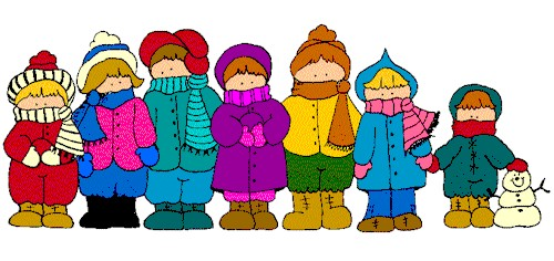 Image result for children bundled up cartoon